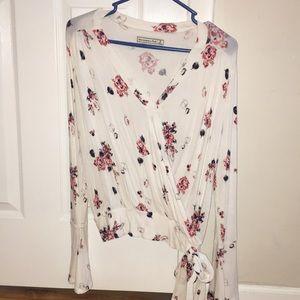 Abercrombie surplice floral top
